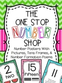 Number Posters - With Pictures, Tens Frames, and Number Fo