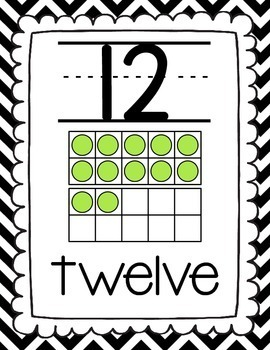 Number Posters: With Ten Frames