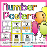 Number Posters: With Ten Frames (Bright Colors)
