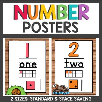 Number Posters Woodland Animals