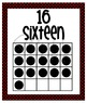 Number Posters - Zero through Twenty -  Black with Red Polka Dots