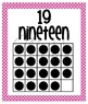 Number Posters - Zero through Twenty -  Pink with Chocolate Brown Polka Dots