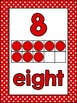 Number Posters and Labels Polka Dot {UK Teaching Resource}