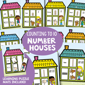 Number Posters and Learning Puzzles - Number Houses