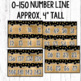 Number Posters and Number Line- Black and Gold Classroom Decor