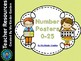 Number Posters and Student Worksheets 0-25 Bundle