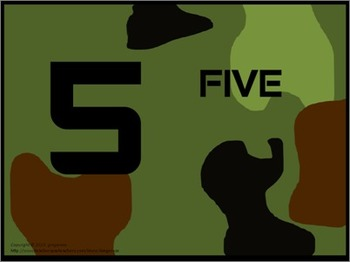 Number Posters, Word Wall Words, and Booklet - Camo