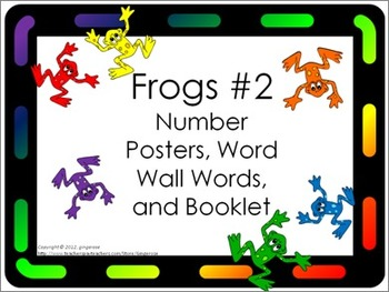 Number Posters, Word Wall Words, and Booklet - Frogs #2 Basic Colors