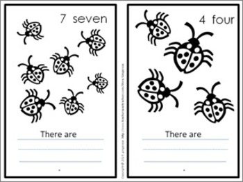 Number Posters, Word Wall Words, and Booklet - Ladybug #1 - Red
