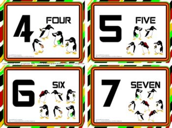 Number Posters and Word Wall Words - Penguins