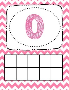 Number Posters (chevron 0-20)