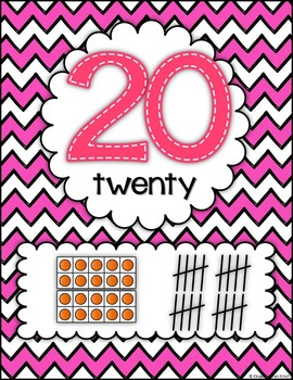 Number Posters (chevron)
