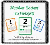 Number Posters en français!