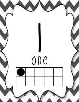 Number Posters {gray chevron}