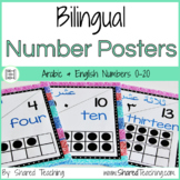 Number Posters in Arabic and English - Colorful