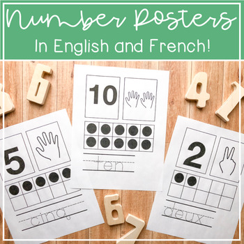 Number Posters in English and French