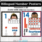 Number Posters in English and Spanish