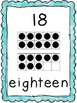 Number Posters in Pastel Colors and Tens Frames