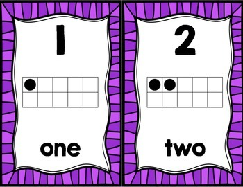 Number Posters in Purple