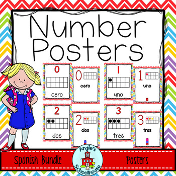 Number Posters in Spanish