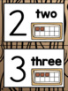 Number Posters in a Camping Classroom Decor Theme