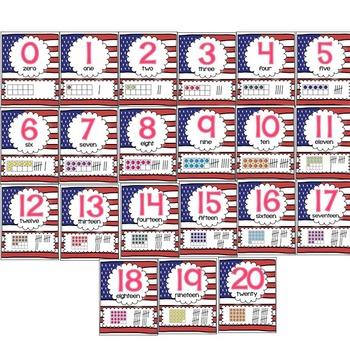 Number Posters (patriotic)