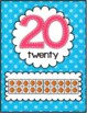 Number Posters (polka dots) WITHOUT Tally Marks