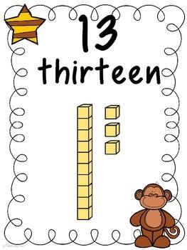 Teens Number Posters  (FREEBIE)