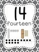 Number Posters to 100 (1-20 and all the tens) - Moroccan Gray Background