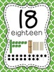 Number Posters to 100 (1-20 and all the tens) - Moroccan Green Background