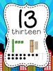 Number Posters to 100 (1-20 and all the tens) - Super Hero or Comic Theme