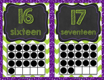Number Posters 0 to 20