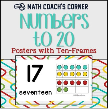 Number Posters to 20, with Ten-Frames