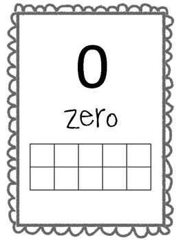 43fa4b17c0 Number Posters to 20 with ten frames in black and white by Ms Terp
