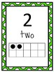 Number Posters to 30 with ten frames dotted