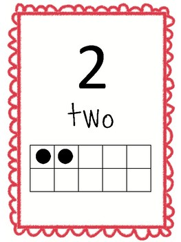 Number Posters to 30 with ten frames