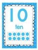 """""""Number Posters"""" with ten frames and base 10 blocks"""