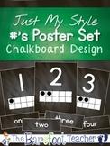 Number Posters w/ Tens Frames 0-20 - Chalkboard Design