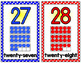 Number Posters w/ ten frames - SMALL - Polka Dot (0-30)