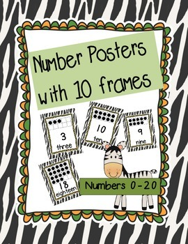 Jungle Themed Number Posters with 10 frames