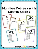 Number Posters with Base 10 to 100! Classroom Number Line