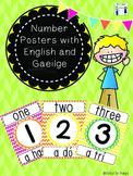 Number Posters with English and Gaeilge