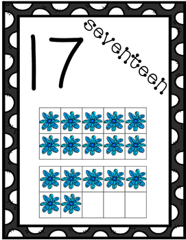 Number Posters with Flower Counters