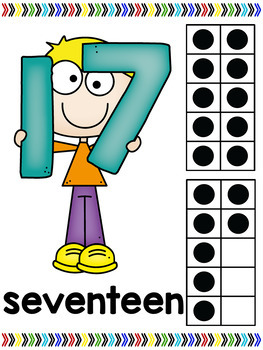 Number Posters with Kids and Ten Frames