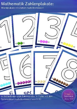 Number Posters with Montessori Counting Beads