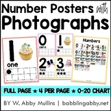 Number Posters with Photographs for Preschool, Kindergarten, and First Grade