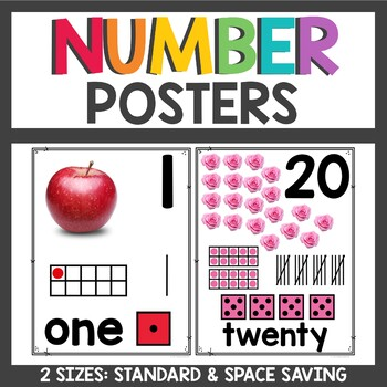 Number Posters with Real Pictures