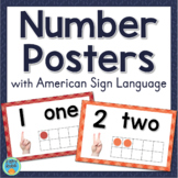 Sign Language Number Posters With Ten Frames ASL