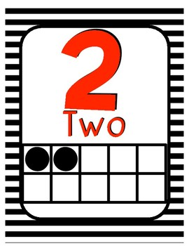 Number Posters with Ten Frames 0-30