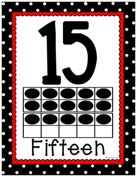 Number Posters with Ten Frames